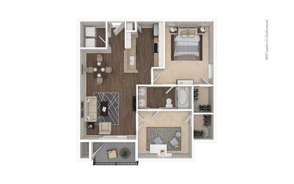 The Highland 1 bedroom 1 bath 857 square feet