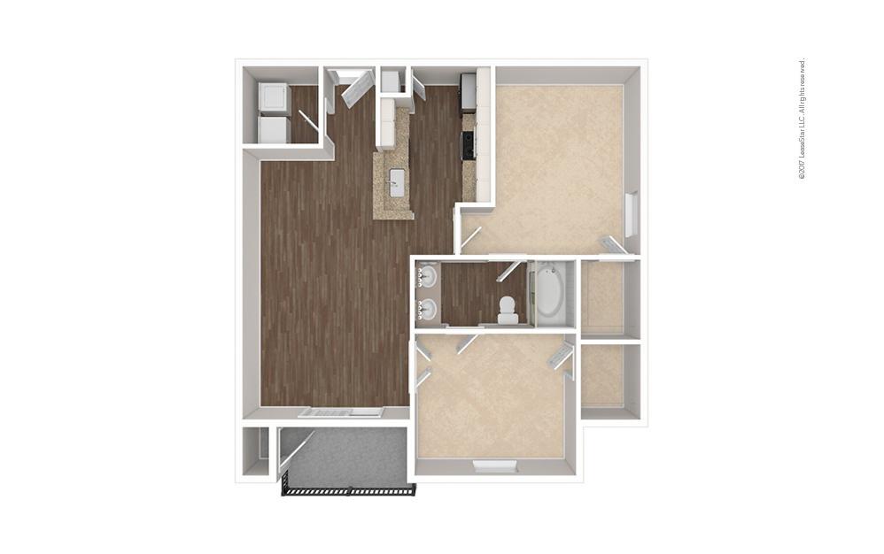 The Highland 1 bedroom 1 bath 857 square feet (1)