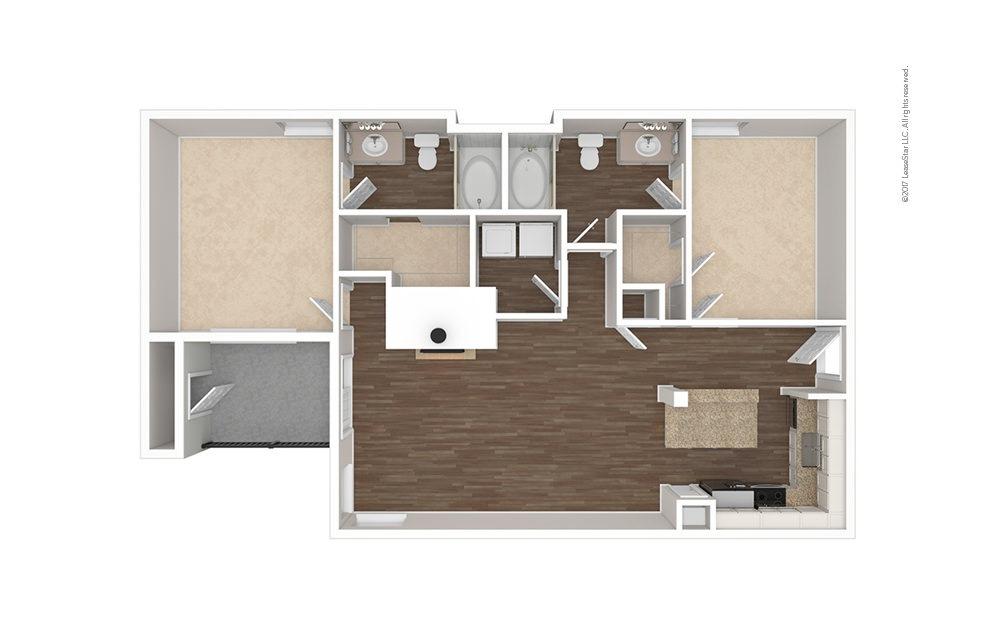 The Lemmon 2 bedroom 2 bath 1049 square feet (1)