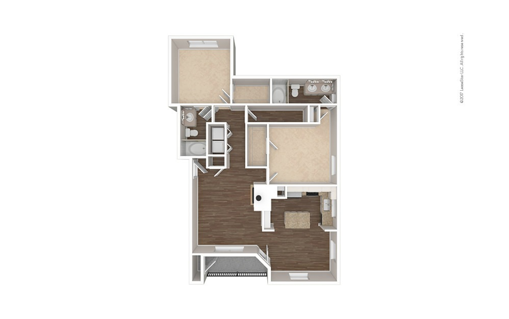The Ross 2 bedroom 2 bath 1189 square feet (1)