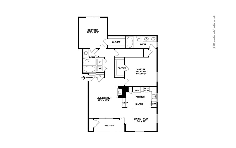 The Ross 2 bedroom 2 bath 1189 square feet (2)