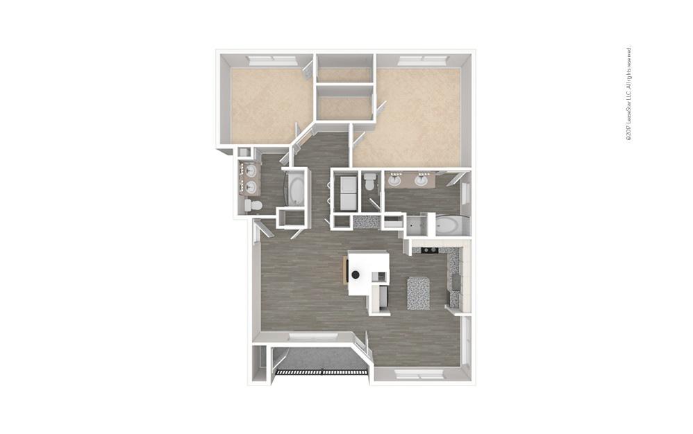 The Texas 2 bedroom 2 bath 1352 square feet (1)