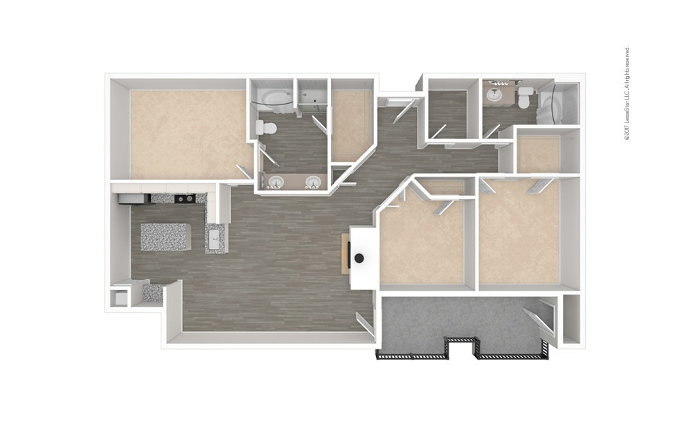 The Uptown 3 bedroom 2 bath 1372 square feet (1)