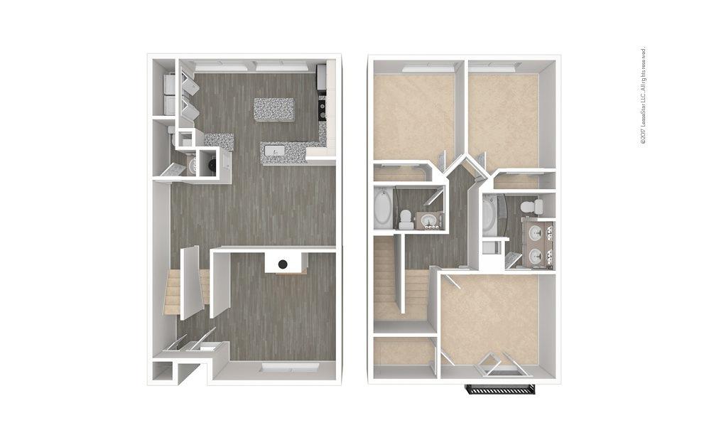 The Warren 3 bedroom 2.5 bath 1444 square feet (1)