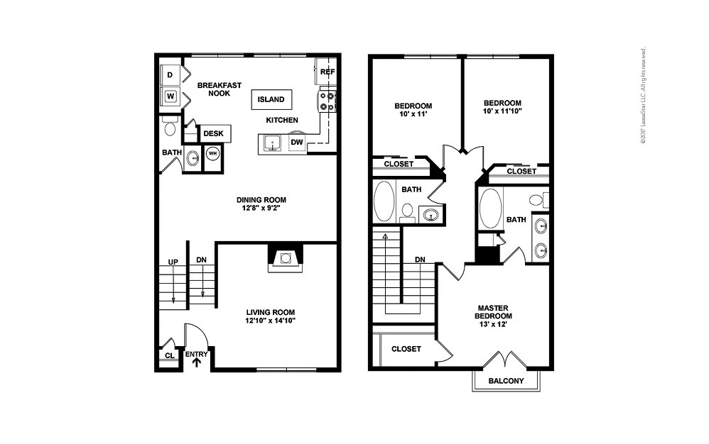 The Warren 3 bedroom 2.5 bath 1444 square feet (2)