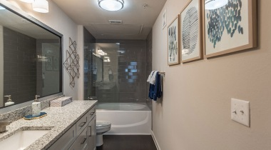 Spacious bathrooms at Cortland Bryan Place