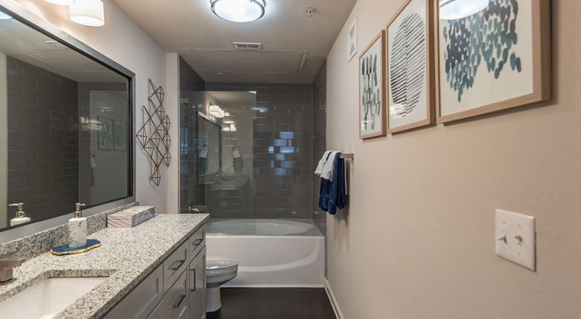 Apartments with Glass Door Bathrooms