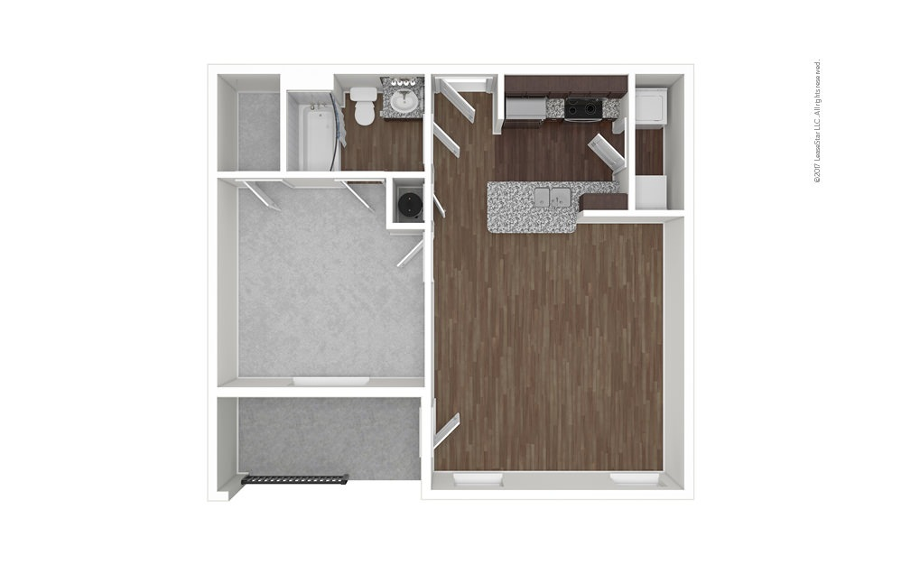 A1 1 bedroom 1 bath 695 square feet (1)