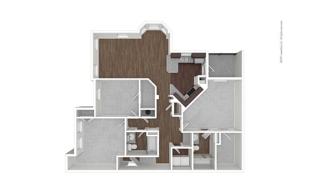 C1B 3 bedroom 2 bath 1585 square feet (1)