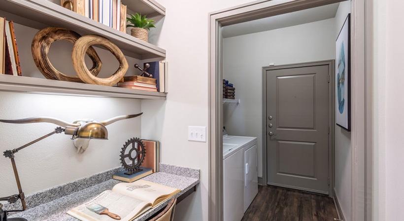 Built in desk at apartments in Prosper, TX