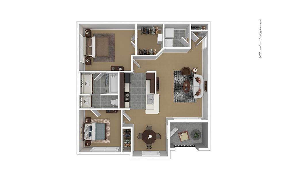 Riverside 2 bedroom 1 bath 905 square feet