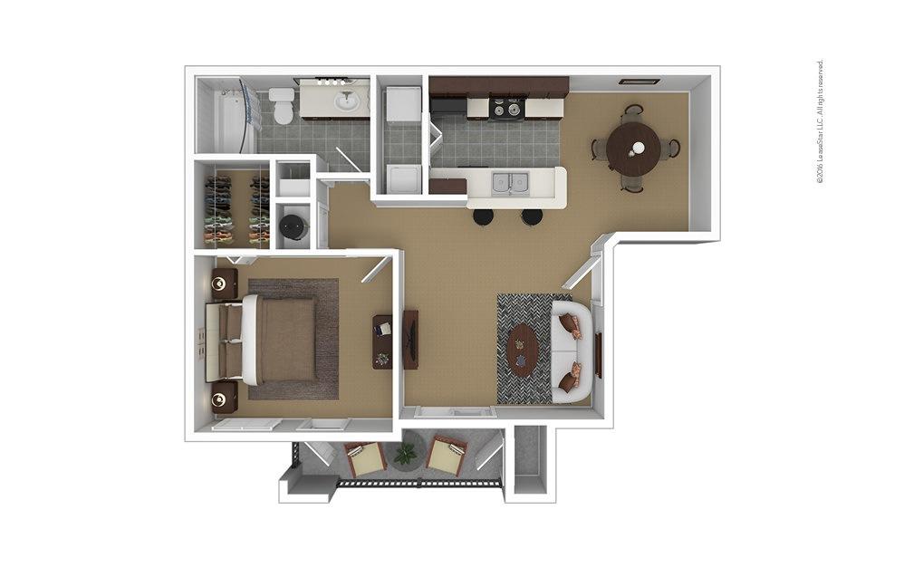 Crane's Roost 1 bedroom 1 bath 686 square feet