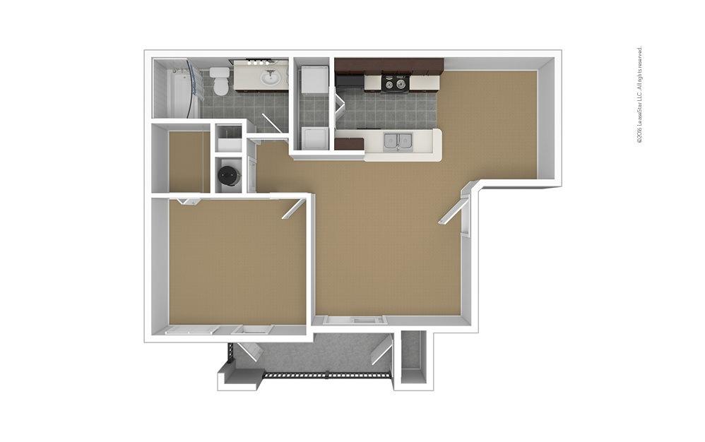 Crane's Roost 1 bedroom 1 bath 686 square feet (1)