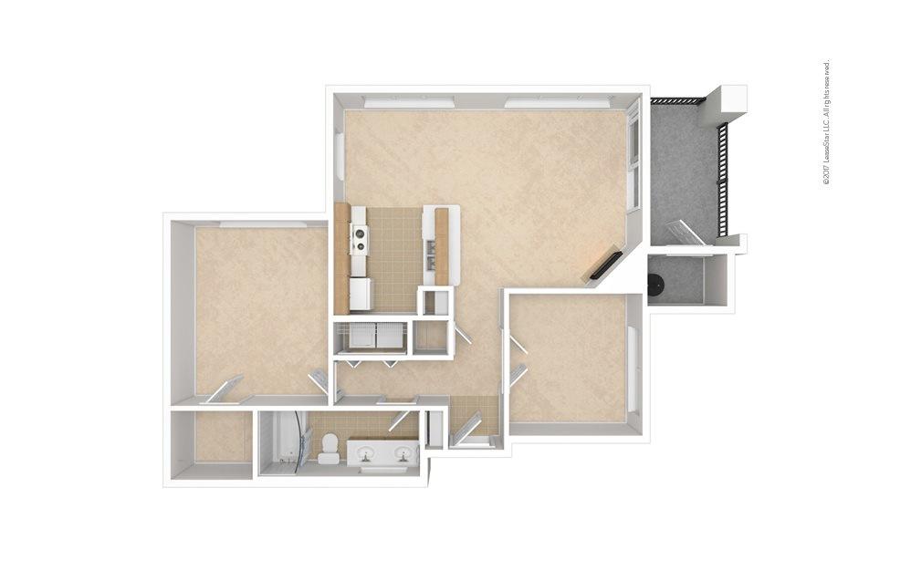 A4 1 bedroom 1 bath 916 square feet (1)