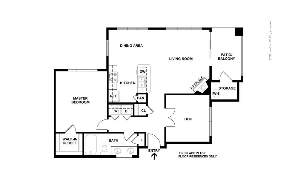 A4 1 bedroom 1 bath 916 square feet (2)