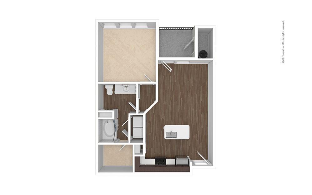 A1 1 bedroom 1 bath 729 square feet (1)