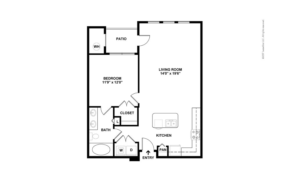 A2 1 bedroom 1 bath 796 square feet (2)