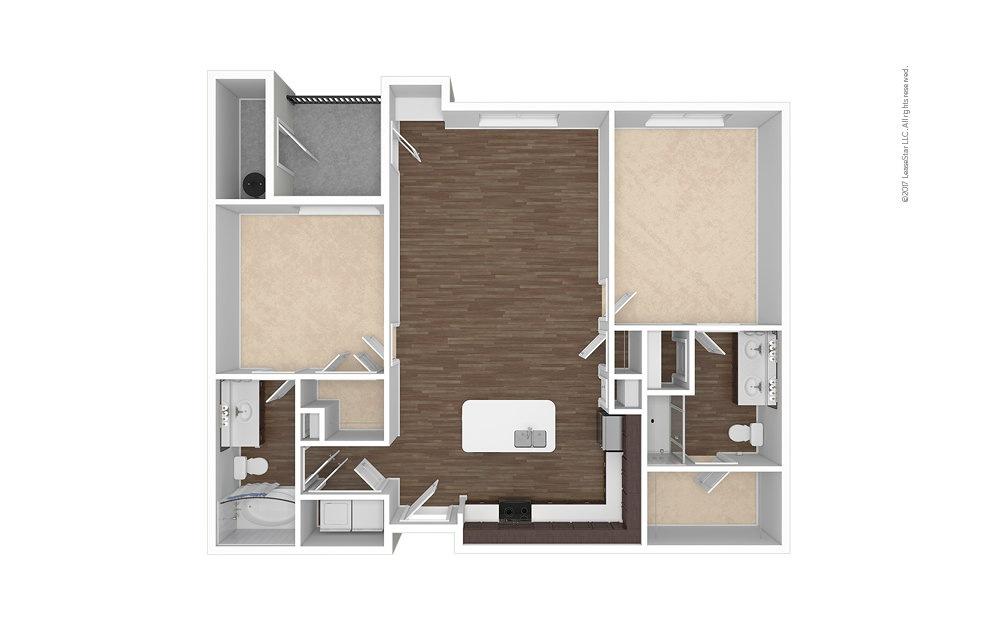 B1 2 bedroom 2 bath 1198 square feet (1)