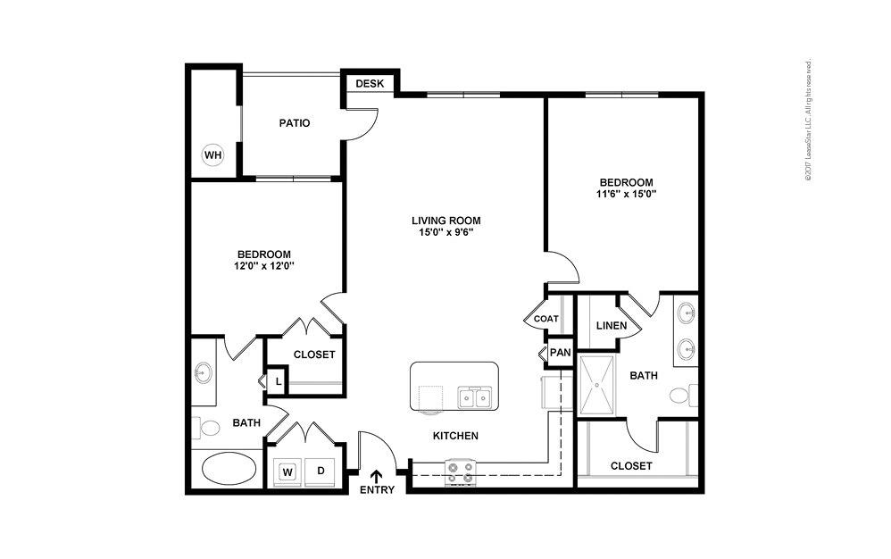 B1 2 bedroom 2 bath 1198 square feet (2)