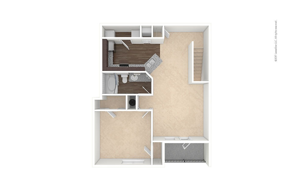 A3A-A4A 1 bedroom 1 bath 955 - 974 square feet (1)