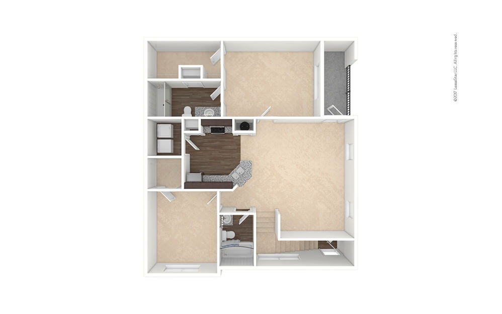 B2-B2A 2 bedroom 2 bath 1008 - 1149 square feet (1)