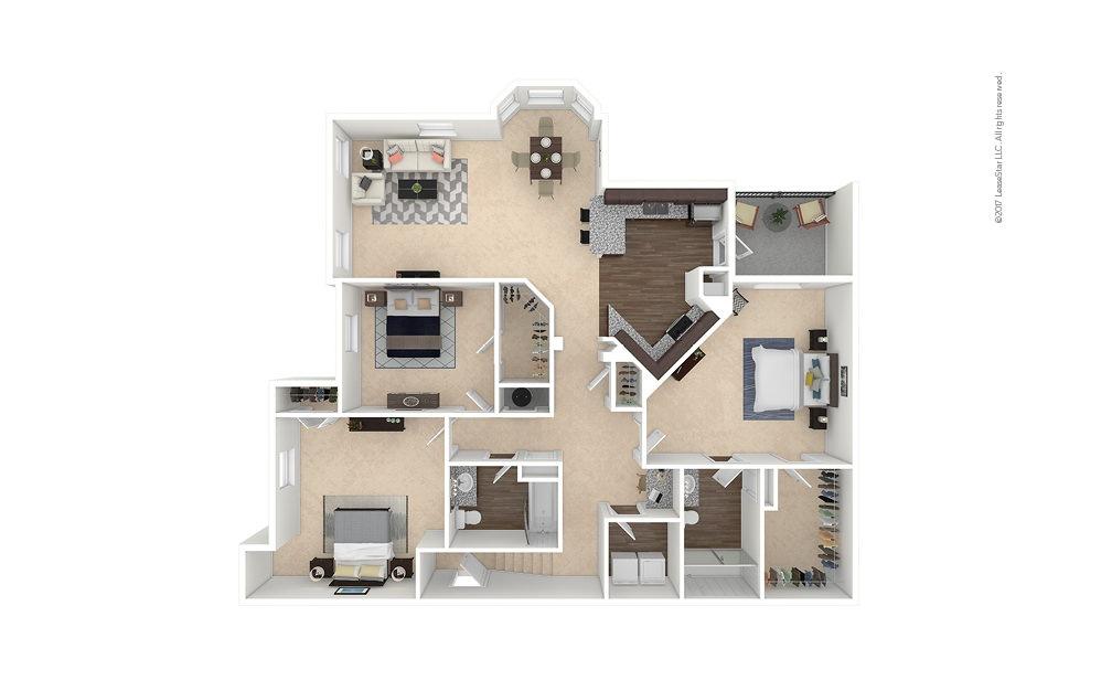 C2A 3 bedroom 2 bath 1583 square feet