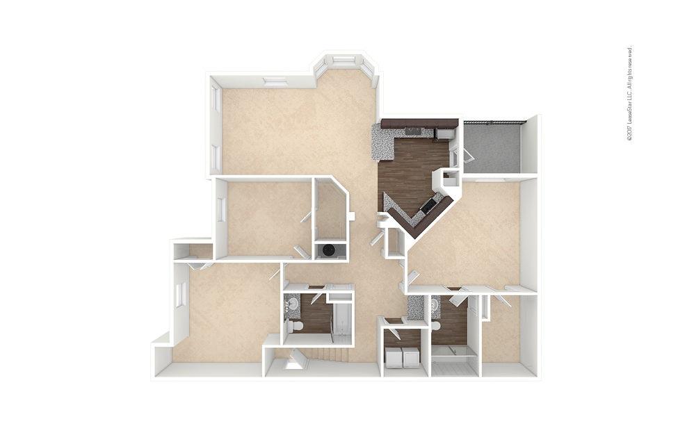 C2A 3 bedroom 2 bath 1583 square feet (1)