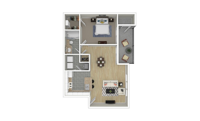 Lotus 1 bedroom 1 bath 815 square feet