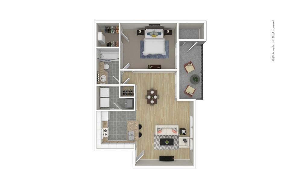 Lotus 1 bedroom 1 bath 815 square feet