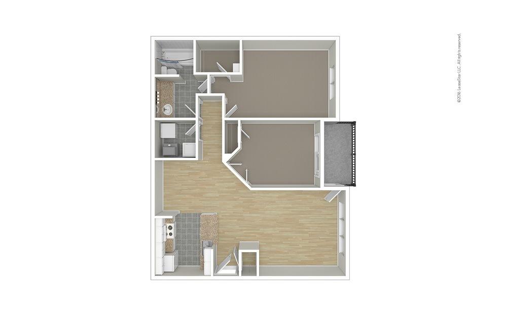 Pearl 2 bedroom 1 bath 1005 square feet (1)