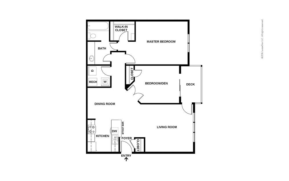 Pearl 2 bedroom 1 bath 1005 square feet (2)