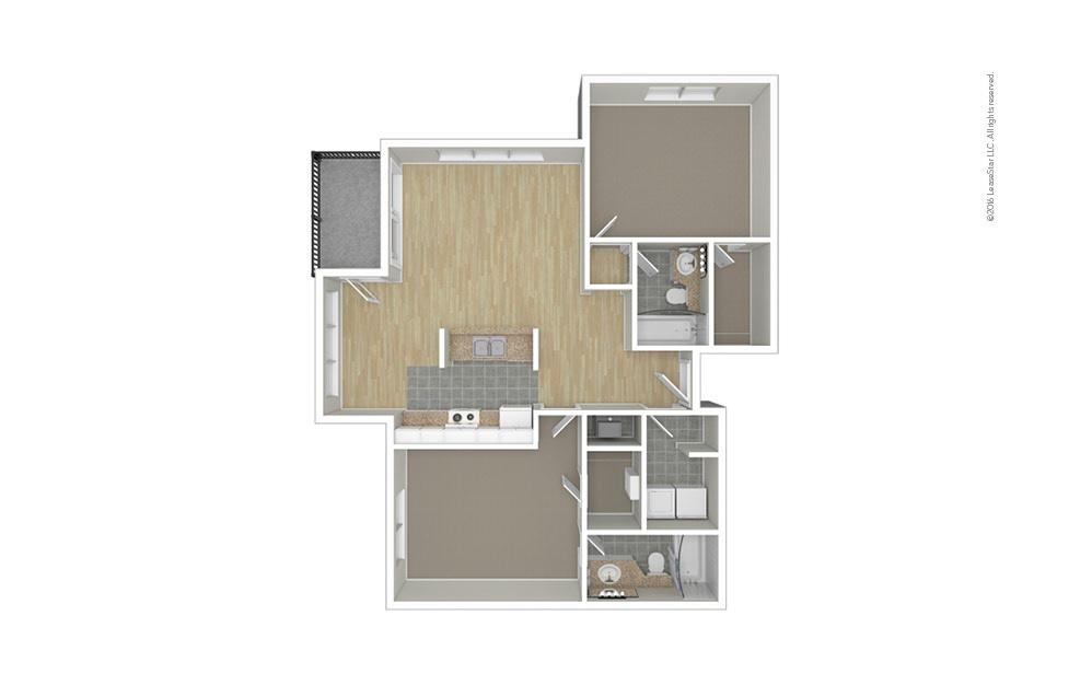 Pleasant 2 bedroom 2 bath 1050 square feet (1)