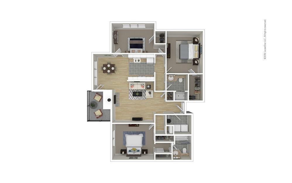 Spring 3 bedroom 2 bath 1360 square feet