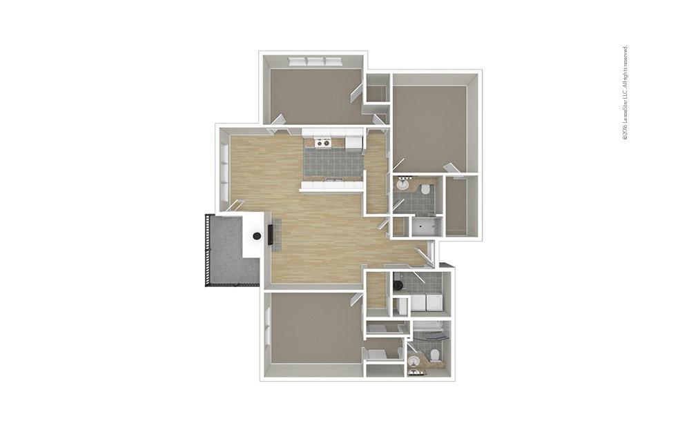 Spring 3 bedroom 2 bath 1360 square feet (1)