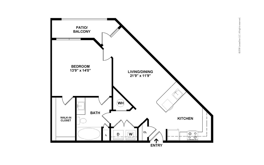 A4 1 bedroom 1 bath 815 square feet (2)