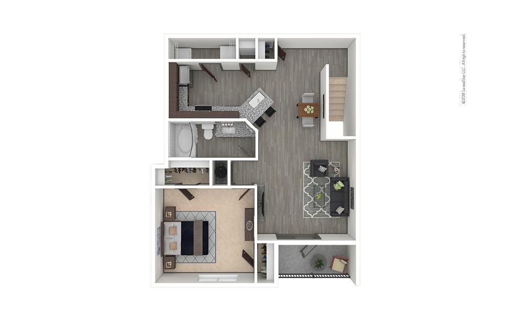 A5 1 bedroom 1 bath 953 square feet