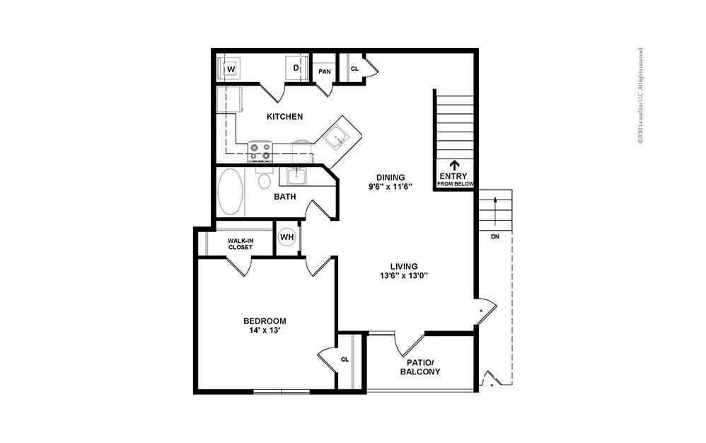 A5 1 bedroom 1 bath 953 square feet (2)