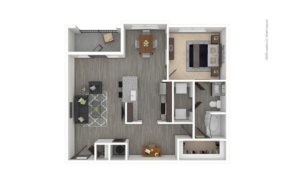 A6 1 bedroom 1 bath 983 square feet