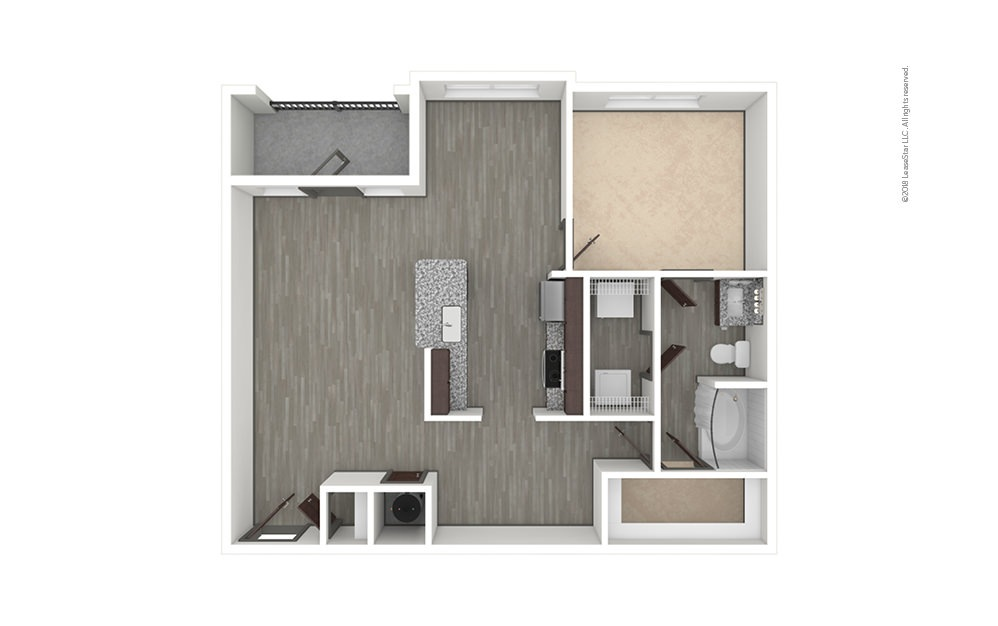 A6 1 bedroom 1 bath 983 square feet (1)
