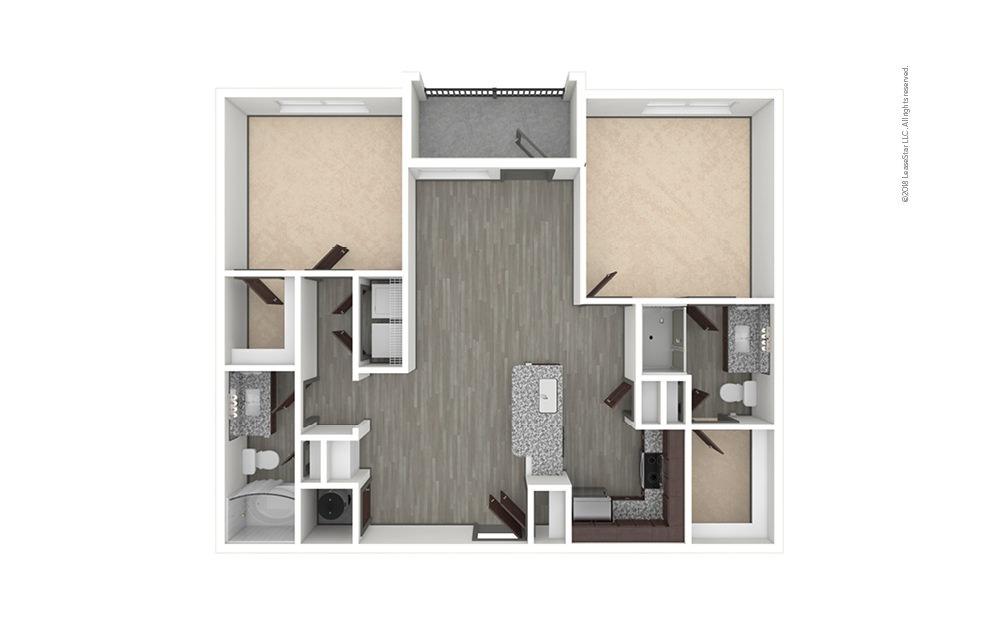 B1 2 bedroom 2 bath 1005 square feet (1)