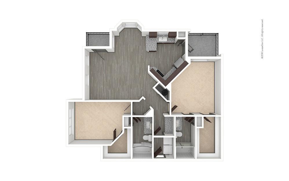 B7 2 bedroom 2 bath 1337 square feet (1)