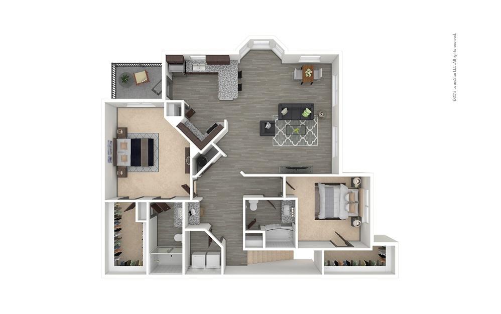 B8 2 bedroom 2 bath 1457 square feet