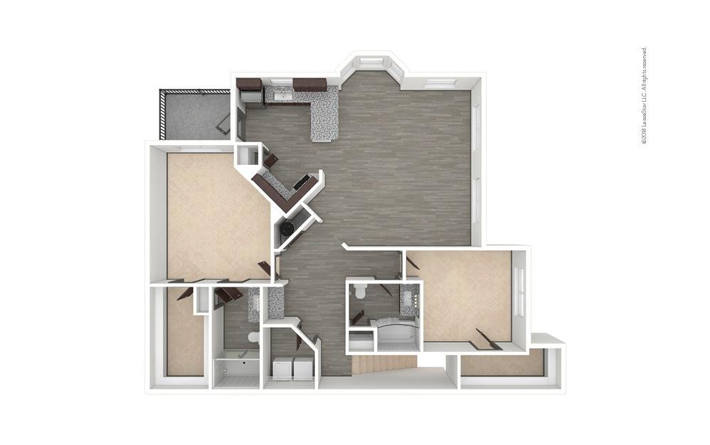B8 2 bedroom 2 bath 1457 square feet (1)
