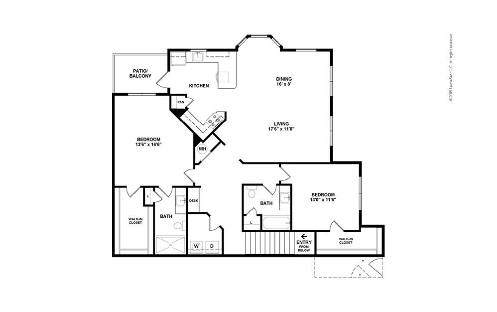 B8 2 bedroom 2 bath 1457 square feet (2)