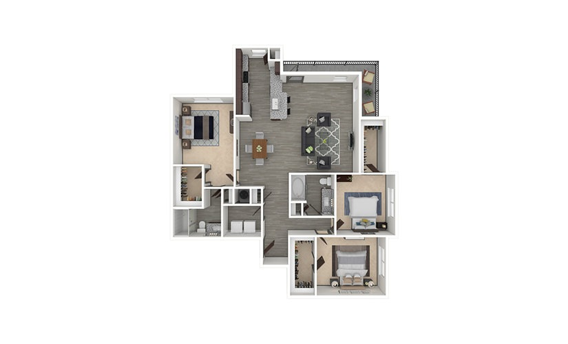 C2 3 bedroom 2 bath 1471 square feet