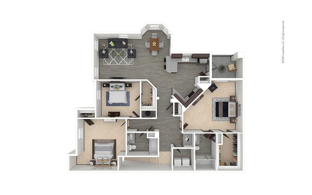 C4 3 bedroom 2 bath 1585 square feet