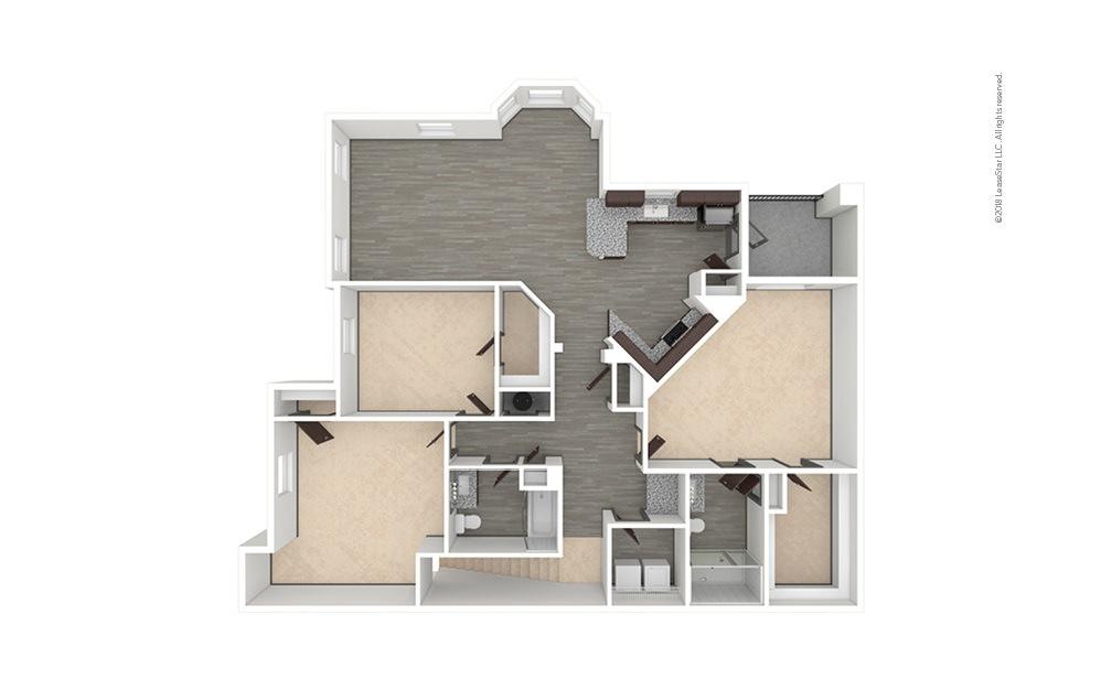 C4 3 bedroom 2 bath 1585 square feet (1)