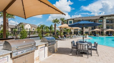 Outdoor grills at our Shadow Creek Ranch apartments