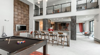 Resident Lounge with Pool Table at Cortland Luxe Shadow Creek