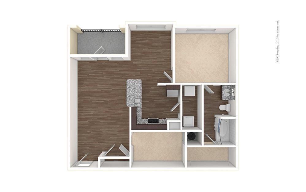 A3 1 bedroom 1 bath 983 square feet (1)